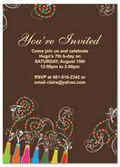 Diy Do It Yourself Blank Birthday Invitation